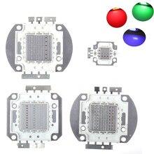 цена на 10pcs/lot 10W/20W/30W/50W/90W/100W LED RGB Integrated High Power Lamp bulbs Beads Red Green Blue light Chips for led floodlight