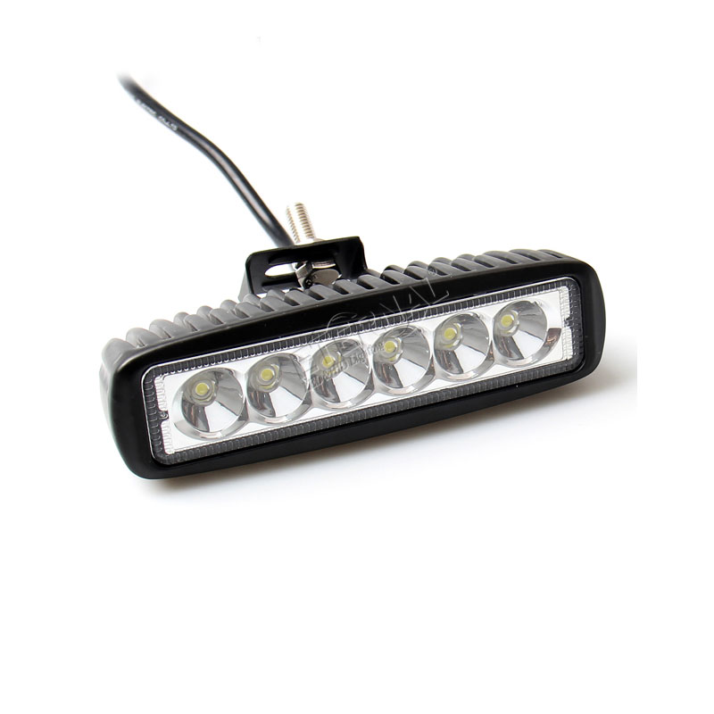 2pcs 18W DRL led work light for 4x4 off-road truck ATV UTV motorcycle boat marine golf 4 LED fog lamp 12V spotlight