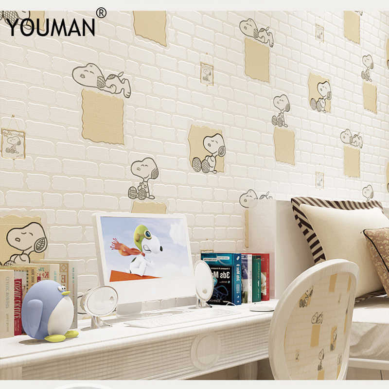 Wallpapers Youman Kids Room Cartoon Dog Wallpaper Roll Boys And Girls Children S Room Desktop Background Wallpaper Room Decor
