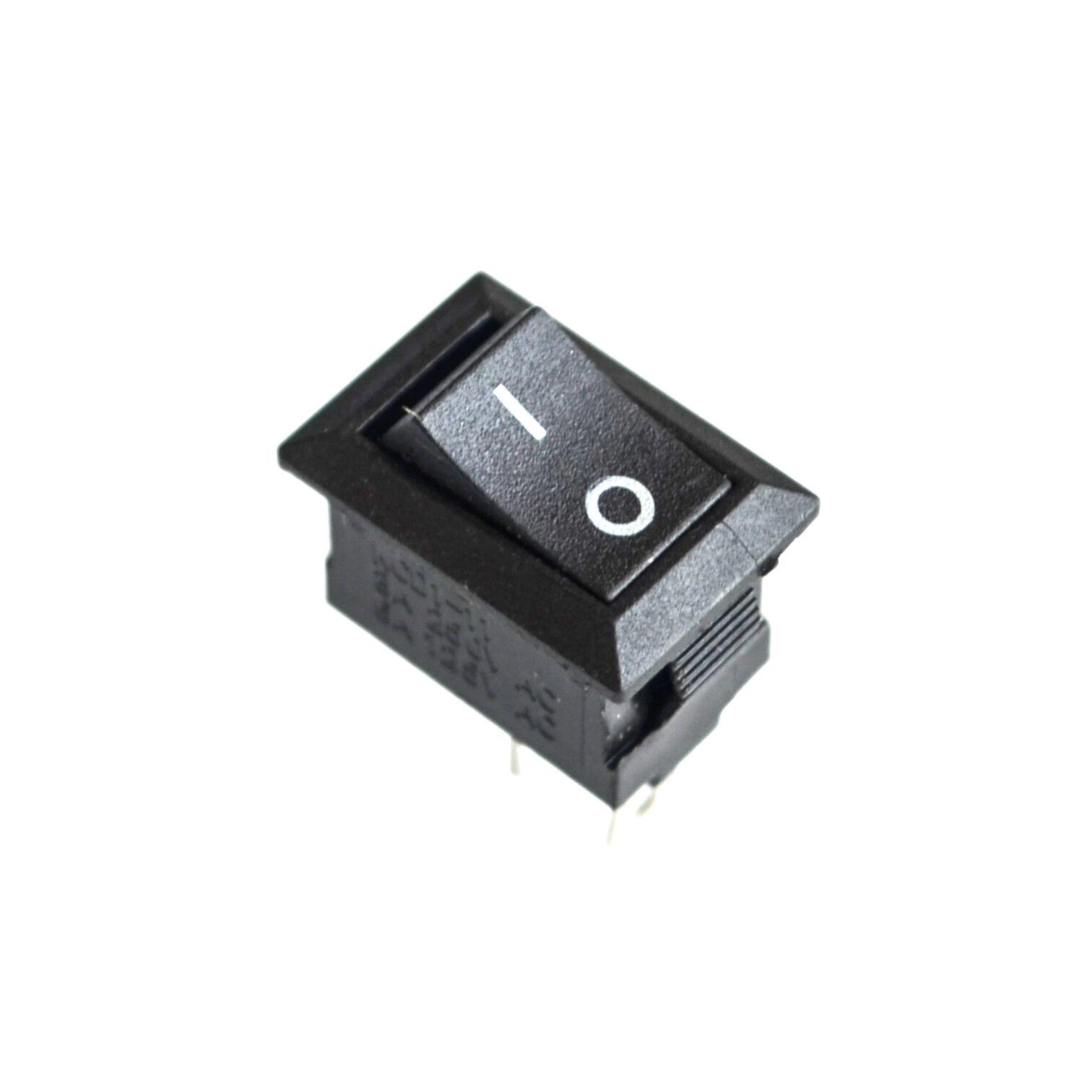 10pcs ON / OFF Rocker Switch, 117S 2-Pin 250V3A 125V6A ON-OFF Black Plastic 2 Pin