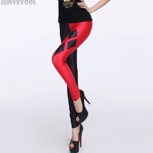 25cb3450164442 Gymwear Women Red Black Patchwork Capris Sexy Women's 3D Digital Print  Diamond Stretch Leggings Pants Silm