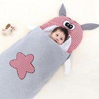 Baby Schlafsack Baby Wagen Umschläge Für Neugeborene Cartoon Rhinoceros Muster Fußsack In Infant Bett Zipper Windel Kokon-in Babyschlafsäcke aus Mutter und Kind bei