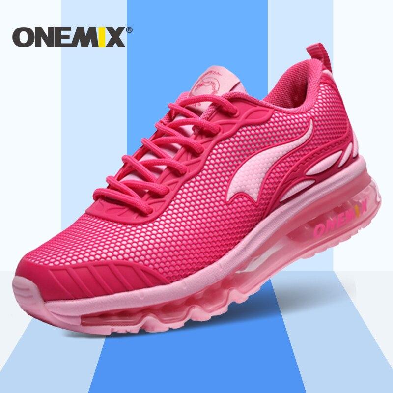 Onemix nuevas mujeres zapatos para correr transpirable zapatillas deportivas fem