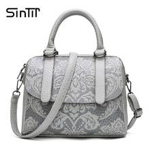 Fashion Boston Style PU Leather Shoulder Bag