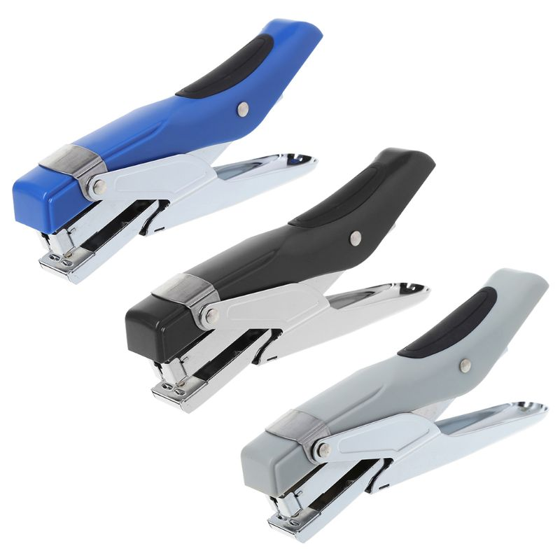 Durable Metal Paper Plier Stapler Hand Manual Desktop Stationery Stapling Thickness 24 Sheets Office School Supplies