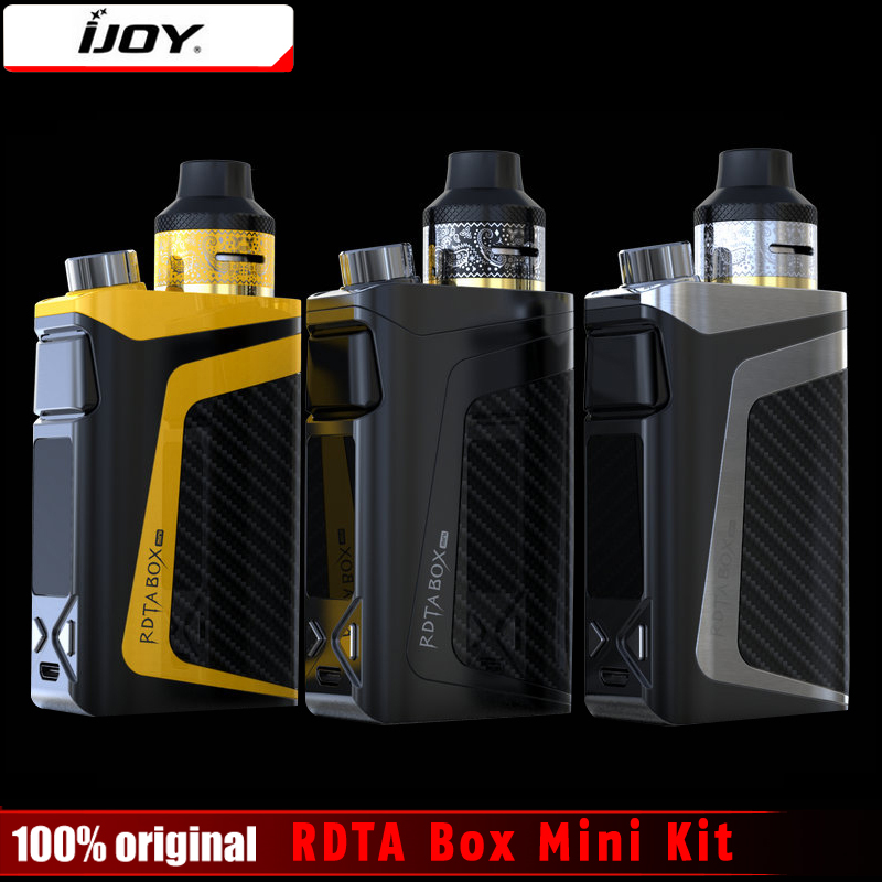 Original iJoy RDTA Box Mini Kit 100W Mod Built-in Li-Po 2600mAh battery 6ML e-juice tank BOX MOD Vape Electronic Cigarette Kit original steam crave aromamizer plus rdta 10ml e liquid enhanced airflow juice flow design rdta tank electronic cigarette tank