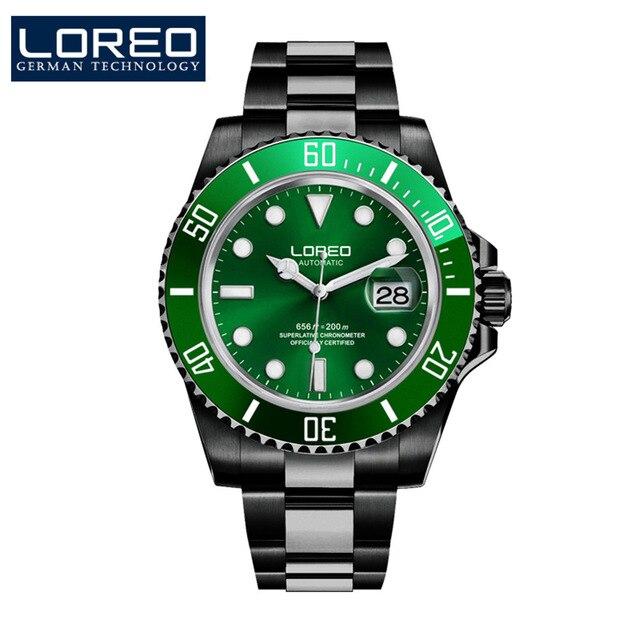 Hommes mécanique montre automatique Date mode luxe marque saphir plongeur étanche horloge mâle lumineux montres - 6