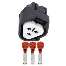 10  Sets 3 pin Automotive Connector Car Plug 3P Black Sheath Fog Light DJ7037Y-2.2-21