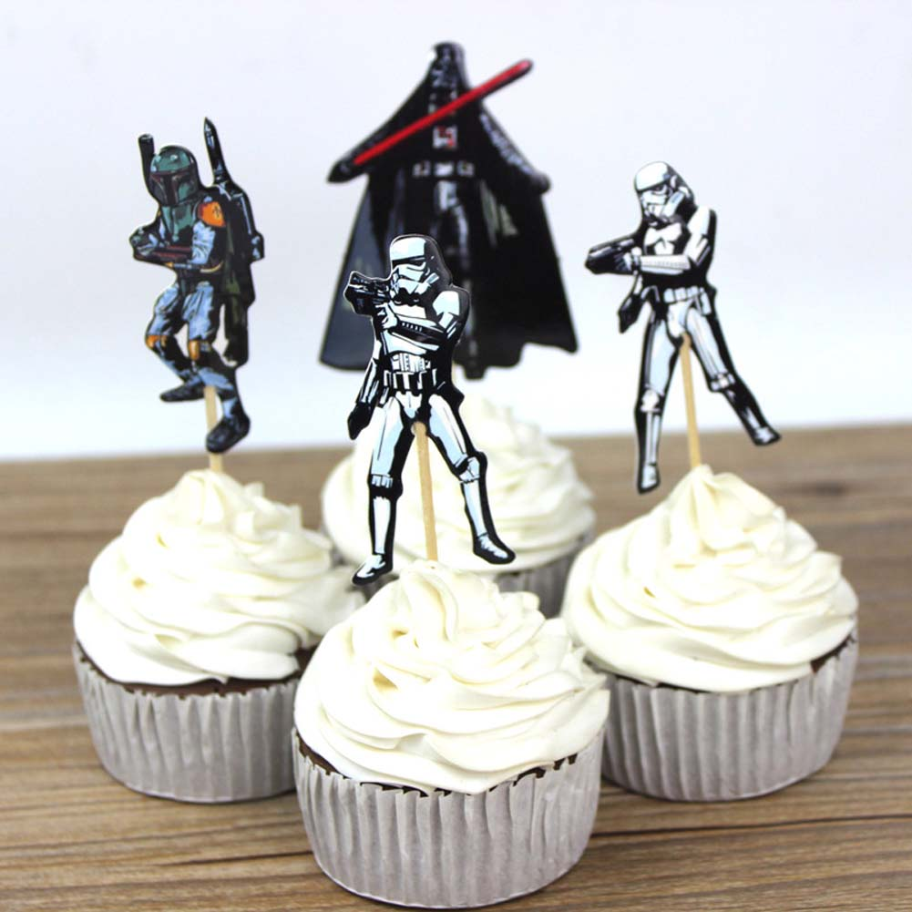 24pcs The Star Wars Cupcake Topper Picks,birthday/wedding party ...