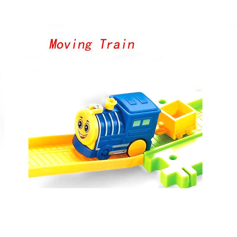 56pcs Cars Toys Thomas Train 3D City Construction Electric Train Building Blocks Toys for Children