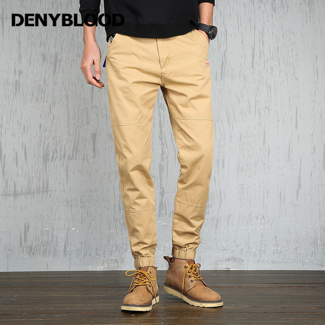 2639e761e Denyblood Jeans Mens Cargo Pants Jogger Pants Men Army Green Military Trousers  Khaki Chinos Harem Pants for Men Casual Pants 087