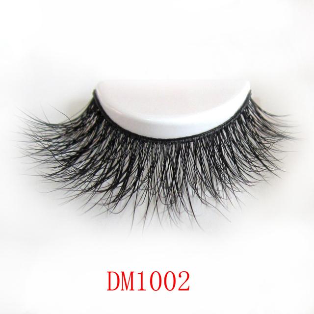 Envío gratuito de fashional DM1002 1 unids/lote 3D cruce gruesa piel de visón pestañas
