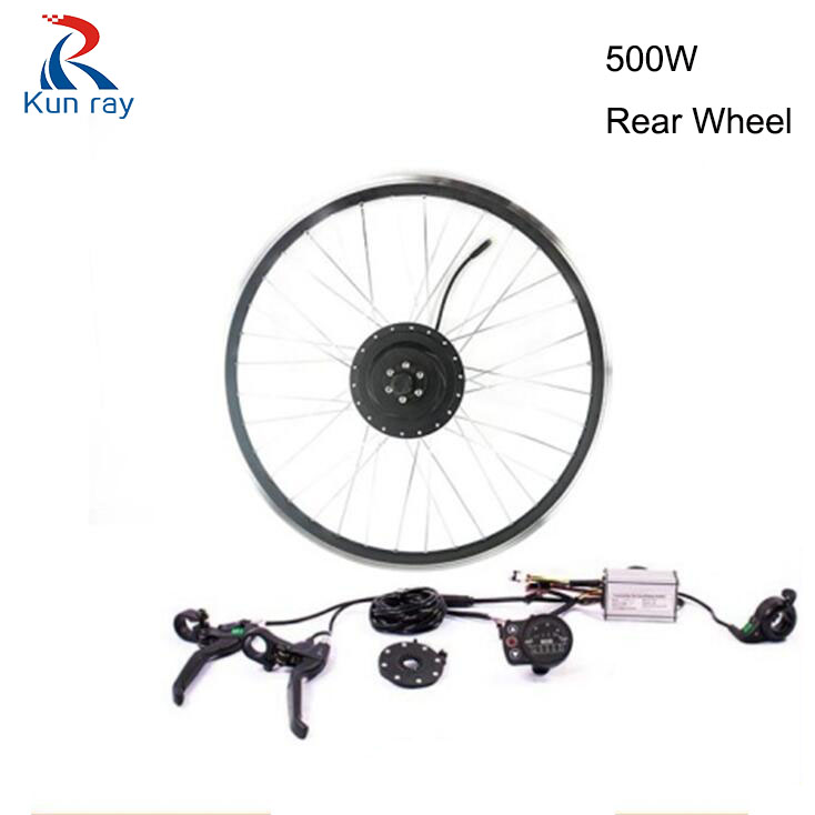 Bicicleta electrica Gear Brushless Hub Motor 500W 36V/48V Mountain cycling Electric bicycle rear wheel Motor Kit for e bike G104 free shipping 26er mountain bike hub bicycle wheel 4palin bicicleta ultraleve vara de pode ser removido rapidamente