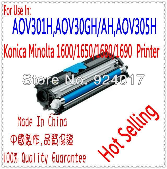 ФОТО Refill Toner For Konica Minolta 1600w 1680 1690 Laser Printer,AOV301H,AOV30GH/AH/5H For K&M C1600 Toner,For Konica 1600 Toner