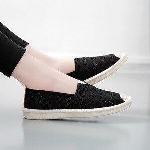 Fischer Schuhe Frauen Müßiggänger Sommer Hohl Atmungs Mode Lässig Slip-on Wohnungen Schuhe Allgleiches Weiß Hohl Air Mesh Wohnungen