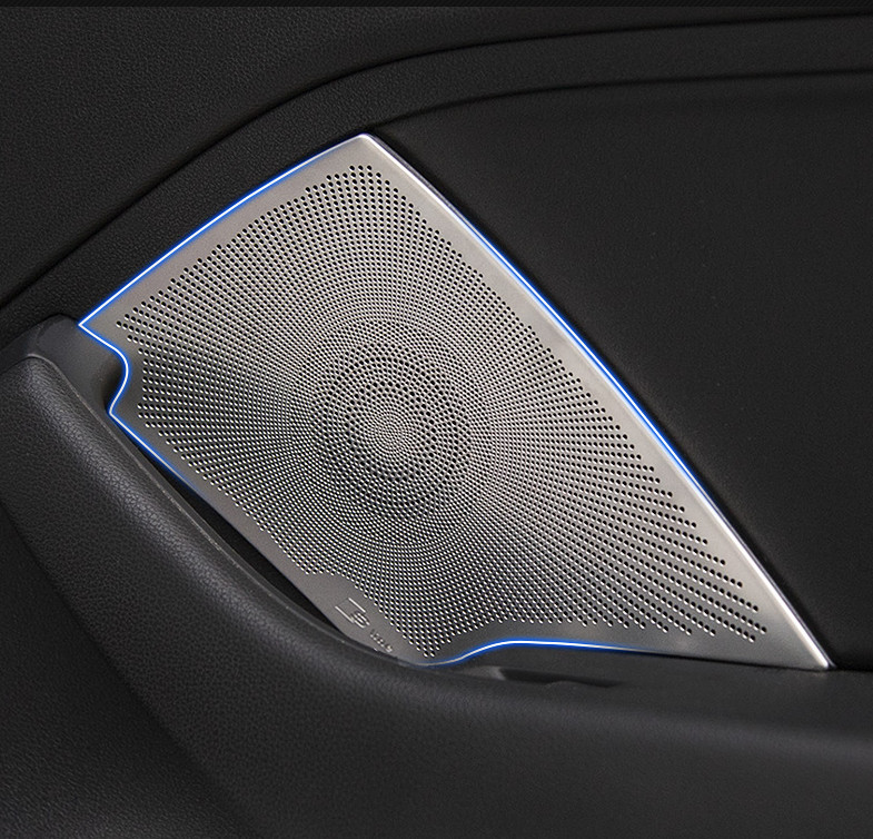 Car styling for Audi A3 8V sedan 2014 2017 Stainless steel Sticker audio speaker sound cover decorating interior trim moldings|Car Stickers| |  - title=
