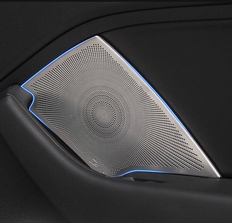 Car Styling For Audi A3 8V Sedan 2014-2017 Stainless Steel Sticker Audio Speaker Sound Cover Decorating Interior Trim Moldings
