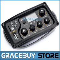 JOYO EQ MP3 Acoustic Guitar MP3 Equalizer Music Volume Bass Middle Treble Presence 3 Band Captador