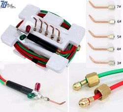 Soldering Cutting Torch Mini Welding Torch Little Smith Gas Torch Jewelry Tools 1 Set with 5 Tips