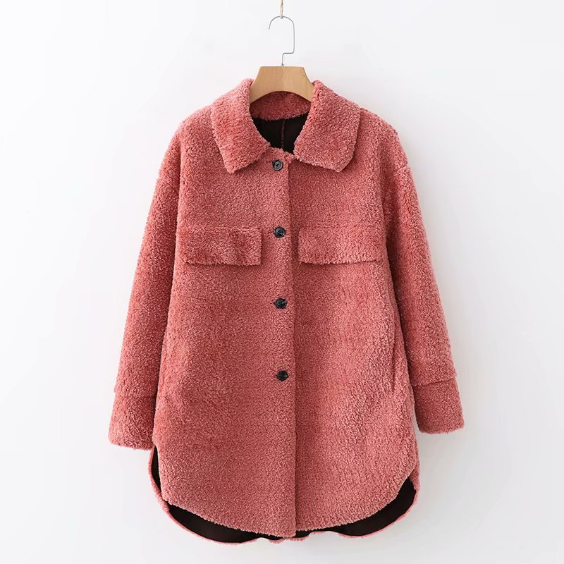 Basic Jackets New Arrival Women Xd95-1538 European And American Fashion Fur Fleece Jackets Excellent Quality