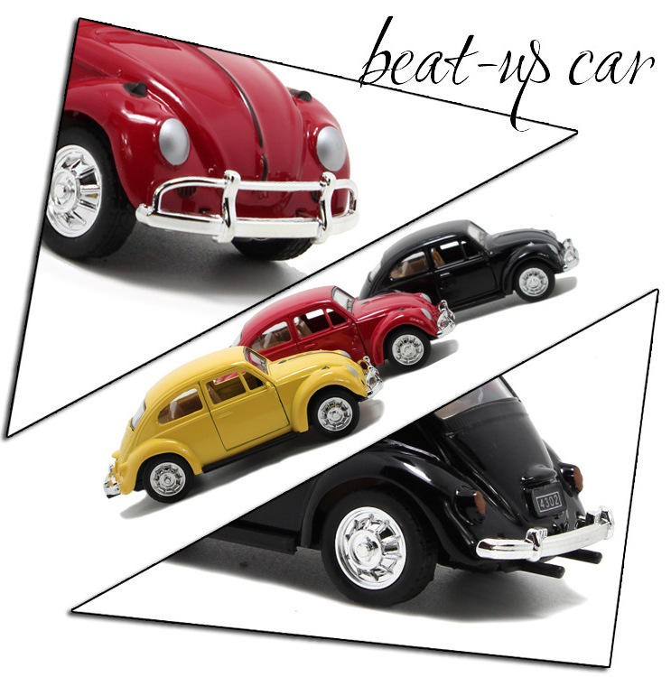 Beatles Classic Car 1:36 scale alloy pull back model car, Retro ...