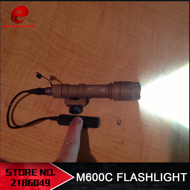 Elemento Airsoft Surefir M600C Arma Tactical Scout light LED 366 Lumen Rifle táctico Linterna Airsoft M600 Series EX072