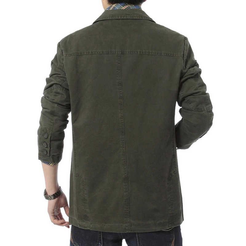 DIMUSI אביב סתיו גברים של מעיל צבא בייסבול אחיד Slim מעילי Mens בלייזרים מזדמנים כותנה ג 'ינס מעילי מותג בגדים, TA306