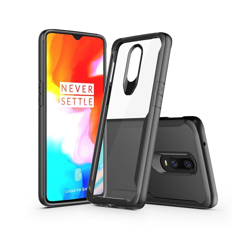 Oneplus 6T A6013 Case Cover TPU + HD Transparent PC Phone