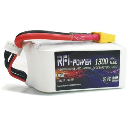 RFI power 1300mAh 14.8V 100C(Max 200C) 4S Lipo Battery Pack for FPV RACING lc l c power filter 2a 2 4s 25v lipo for fpv fpv video