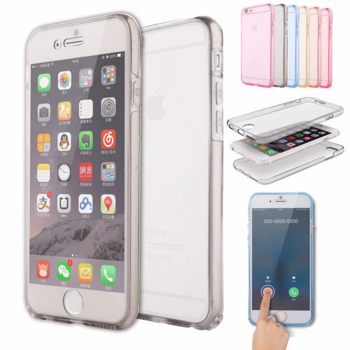 360 Full Body Protective Soft TPU Transparent Case For Iphone 7 6 6S Plus 5S Samsung Galaxy Note 7 5 4 3 2 S7 S6 Edge S5