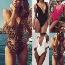 One Piece Swimsuit Sexy Deep-V Swimwear 2019 Women Swimsuit Cut Out Bathing Suits Beach Wear Swim Maillot de Bain Monokini