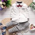 Весна Осень мода марка Детские Мальчики девочки Повседневная Одежда детская Одежда Пиджак + Брюки 2 шт./компл. Детей костюм