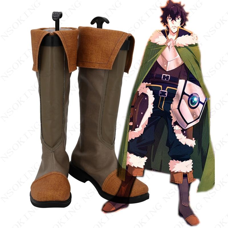 the rising of the shield hero Tate no Yuusha no Nariagari Naofumi Iwatani Cosplay boots Anime Shoes
