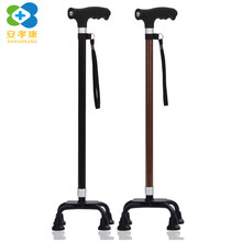 ANXIAOKANG Safe Reliable Old Man Crutches Telescopic Lamp Four-legged Aluminum Alloy Nordic Hiking Walking Stick for Elderly(China)