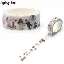 Flyingbee 15mmx5m бумажная Васи Лента Свадебная креативная клейкая