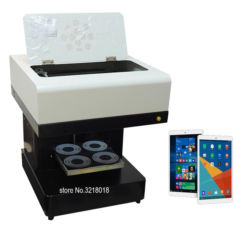 Digital Art Printer With Tablet 4 Cups Coffee Printer Yogurt Printer Coffee Lattee Coffee Cake Pizza Printing Machine For Coffee coffee art