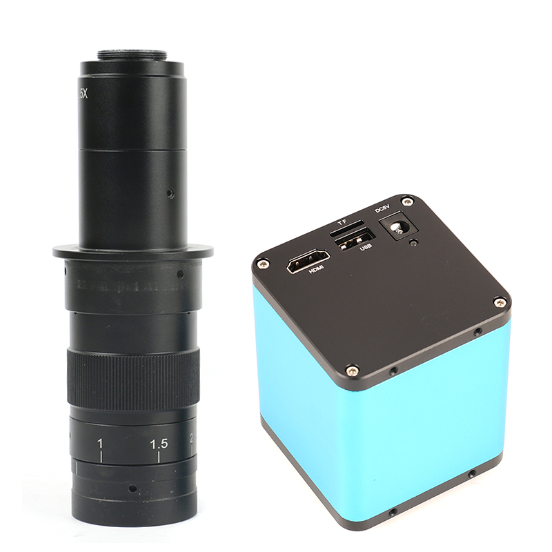 Autofocus 1080 p AF SONY IMX290 HDMI TF Vidéo Autofocus L'industrie Microscope Caméra + 10X-180X C Montage lentille Pour PCB SMT Réparation