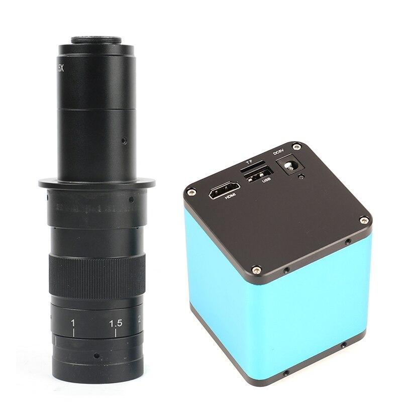 Messa a fuoco automatica 1080 p AF SONY IMX290 HDMI TF Video Messa A Fuoco Automatica Industria Microscopio Della Macchina Fotografica + 10X-180X C Mount lente Per PCB SMT Riparazione