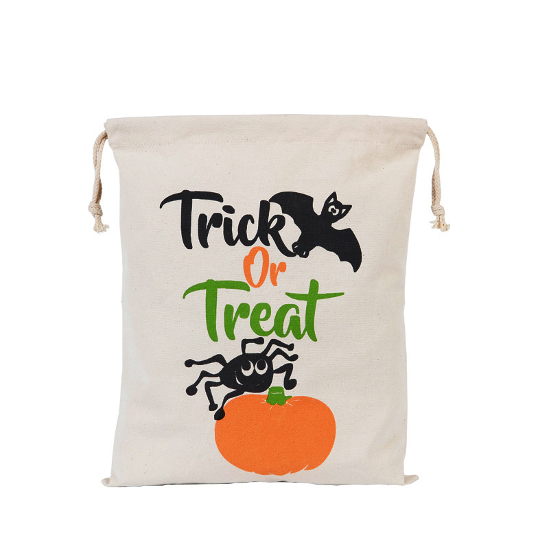 Halloween Gift Bags Event Party Supplies Spider Pumpkin  Sacks Trick Or Treat Party Decoration Personalized