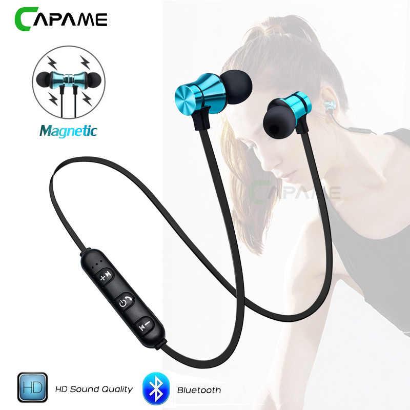 acc7dce1f2a Wireless Headphone Bluetooth Earphone Magnetic Headset Neckband Sport  Running Bluetooth Earphones For iPhone 7 X Xiaomi