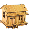 Best seller Free Shipping DIY House 3d jigsaw puzzle toys wooden children's intelligence toys Mar8 wholesale