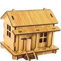 El superventas Del Envío Libre DIY Casa 3d jigsaw puzzle juguetes de madera para niños juguetes de inteligencia Mar8 al por mayor