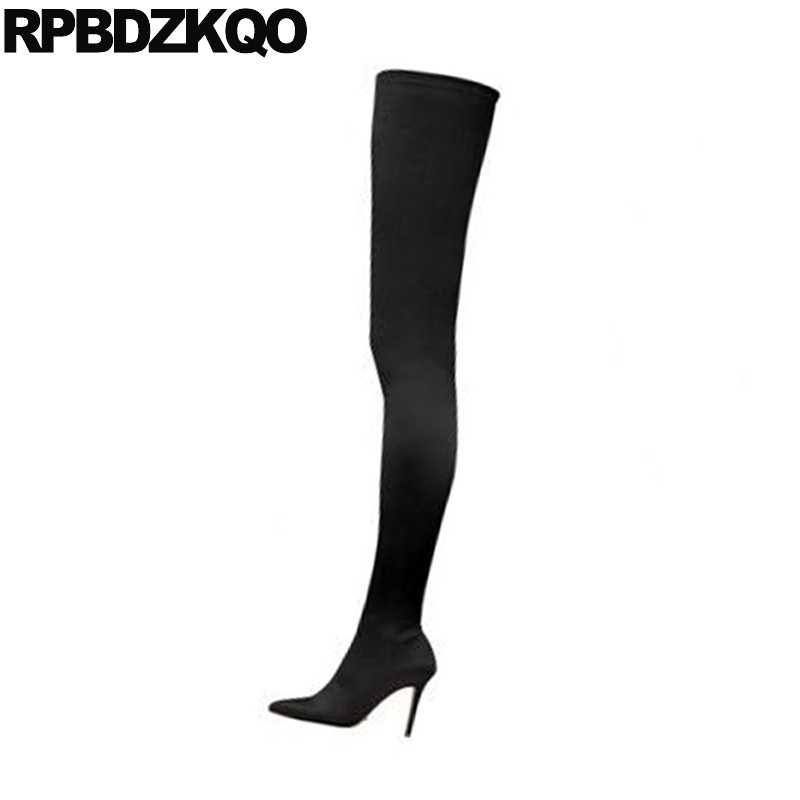 7fe5d6e0ef0a5 thigh high sexy boots crotch stiletto brand over the knee slim heel  designer shoes women luxury