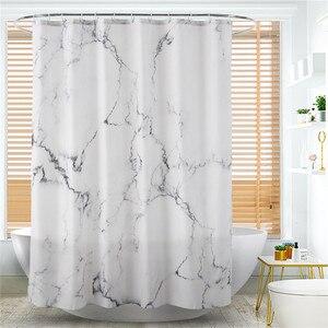 Image 2 - Cortina de ducha de fácil limpieza de 180x180cm, cortinas de baño, cortina de ducha a prueba de agua, sin olor químico reforzado