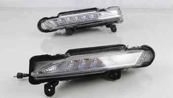 For Toyota Yaris 2017 2018 Waterproof 12V LED DRL Daytime driving Running Light Daylight fog lamp with Turn Signal style Relay