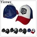 Yienws New Arrival Mesh Hats Women Men Bone Baseball Cap Dad Hat Patchwork Deus Gorras Planas Snapback C043
