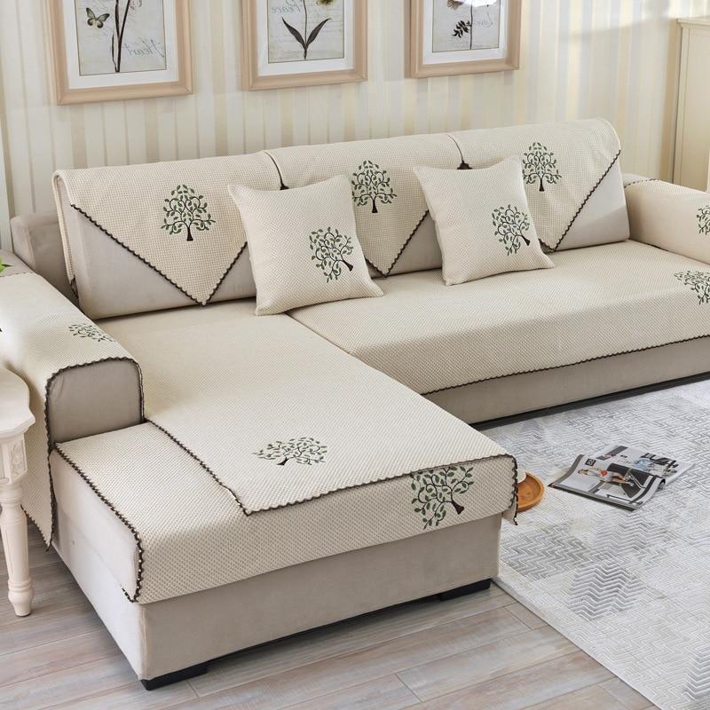 Custom Furniture Slipcovers: Lucky Knitted Designer Patterned Linen Inexpensive Custom