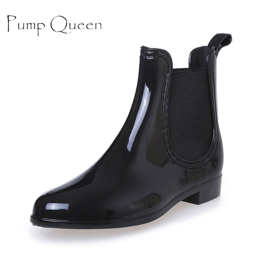 Summer Women Rain Boots Waterproof Non-slip Ankle Short Boots Solid Casual Shoes Flats For Woman Mujer Size 35-40 цены онлайн