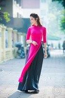 Vietnam cheongsam Mr D summer wear pure color restoring ancient ways of cultivate morality dress dress cheongsam