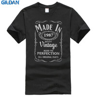 Hot 2017 Fashion Crew Neck Made In 1987 30Th Year Birthday Age Vintage Born Present Short